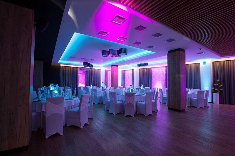 oswietlenie sali na wesele, oswietlenie weselne, oswietlenie slub