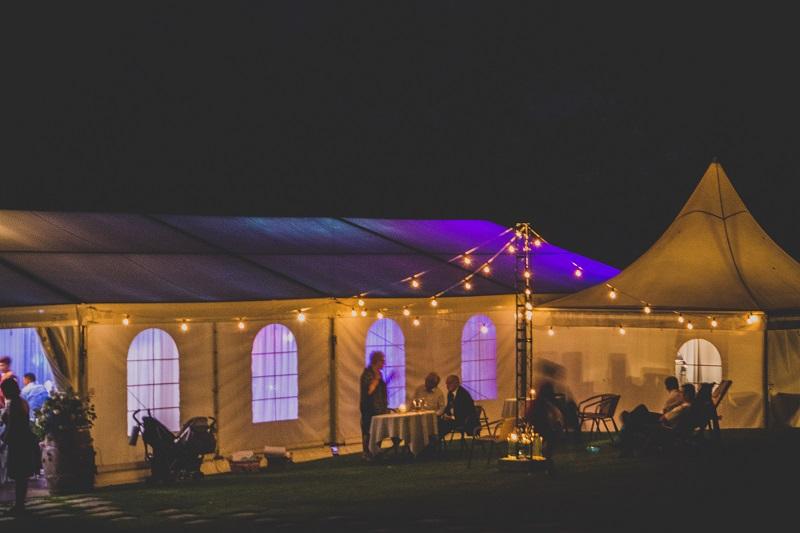 namiot na slub, namiot na wesele, oswietlenie namiotu