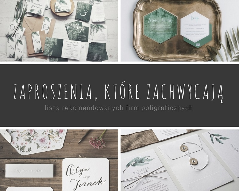 Zaproszenia ślubne, które zachwycają - lista rekomendowanych firm poligraficznych