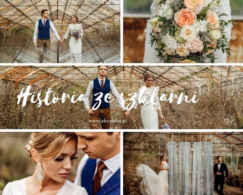 Historia ze szklarni - ślubna sesja zdjęciowa