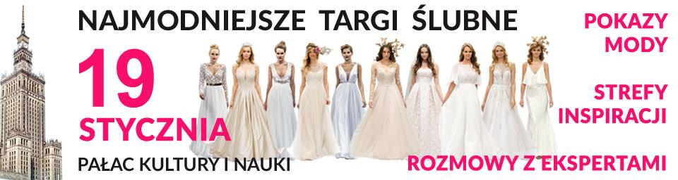 Targi Ślubne PKiN Warszawa 19 stycznia 2020
