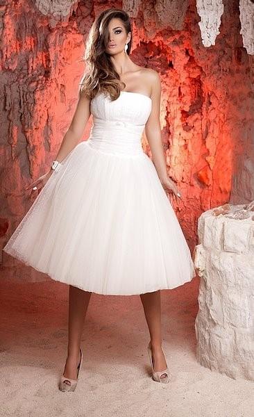 02d81bfe1b Krótka suknia ślubna - Pronuptia Paris