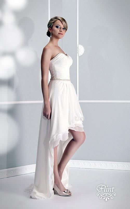 84d84856b4 Krótka suknia ślubna - Pracownia Afrodyta