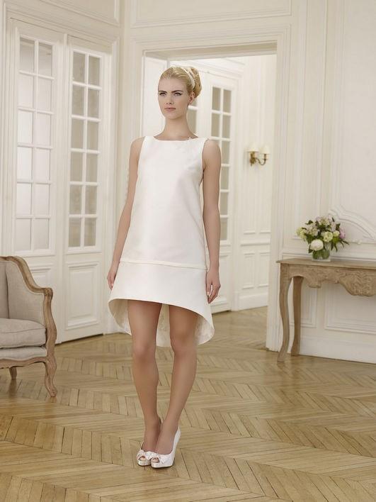 Unikalne Krótka suknia ślubna na ślub cywilny, na ślub kościelny, na lato QU98