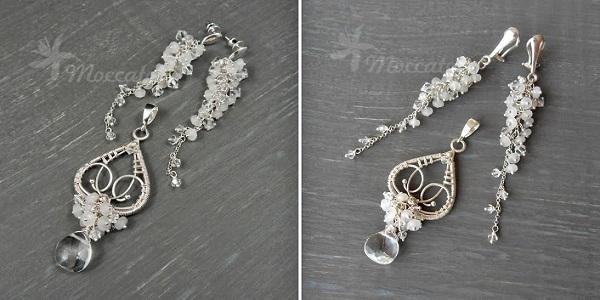 4b005803b68c Komplet biżuterii srebrnej z kryształami Swarovskiego