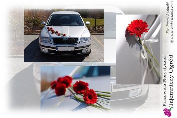 Dekoracje Florystyczne Z żywych Kwiatów Na Samochód Do ślubu