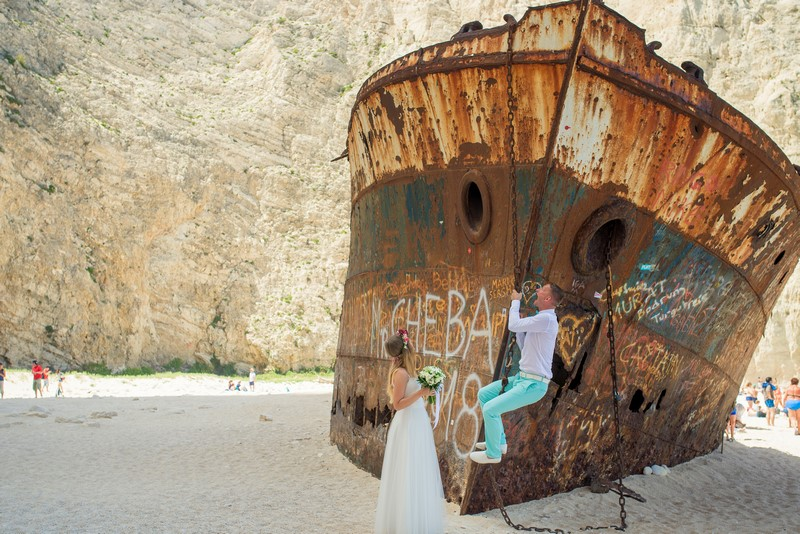 ślub wesele za granicą destination wedding zakynthos zakintos zatoka wraku grecja inspiracje wedding beach wedding Turquoise Inpiration Events