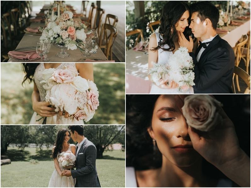 Pomysł na nastrojowe przyjęcie weselne w plenerze z motywem romantycznego różu