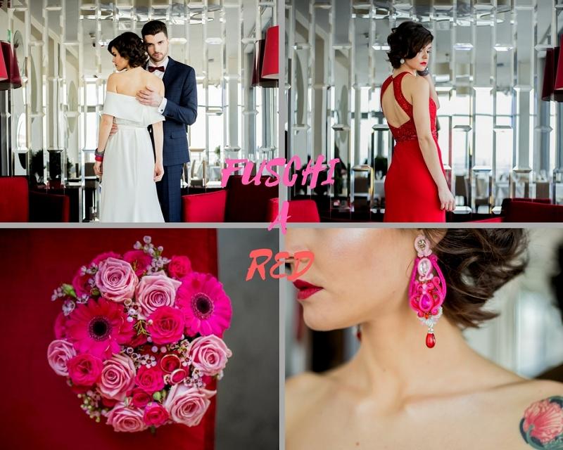 Fuksja i czerwień jako kolory przewodnie na wesele wiosną 2018