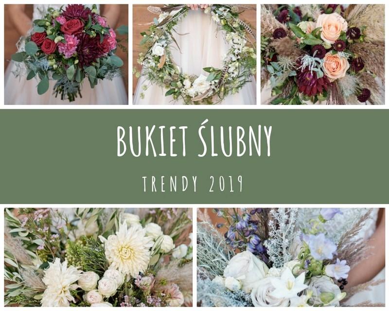 Bukiety ślubne 2019 – przegląd trendów