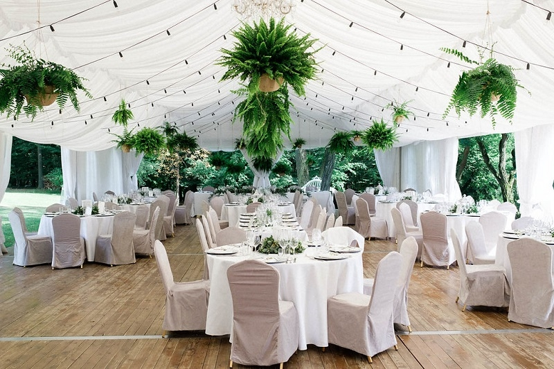 Pomysł na wesele plenerowe z paprociami