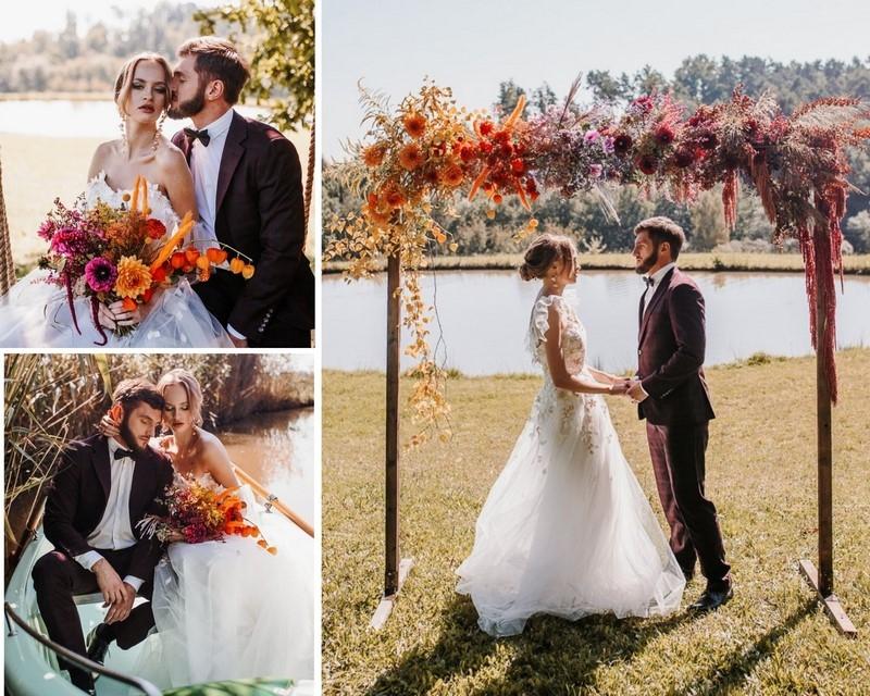 Pomysł na ślub i wesele w kolorach jesiennego ombre