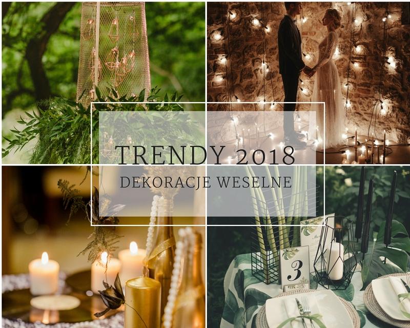 Trendy ślubne 2018 - 15 sposobów na dekorację sali weselnej